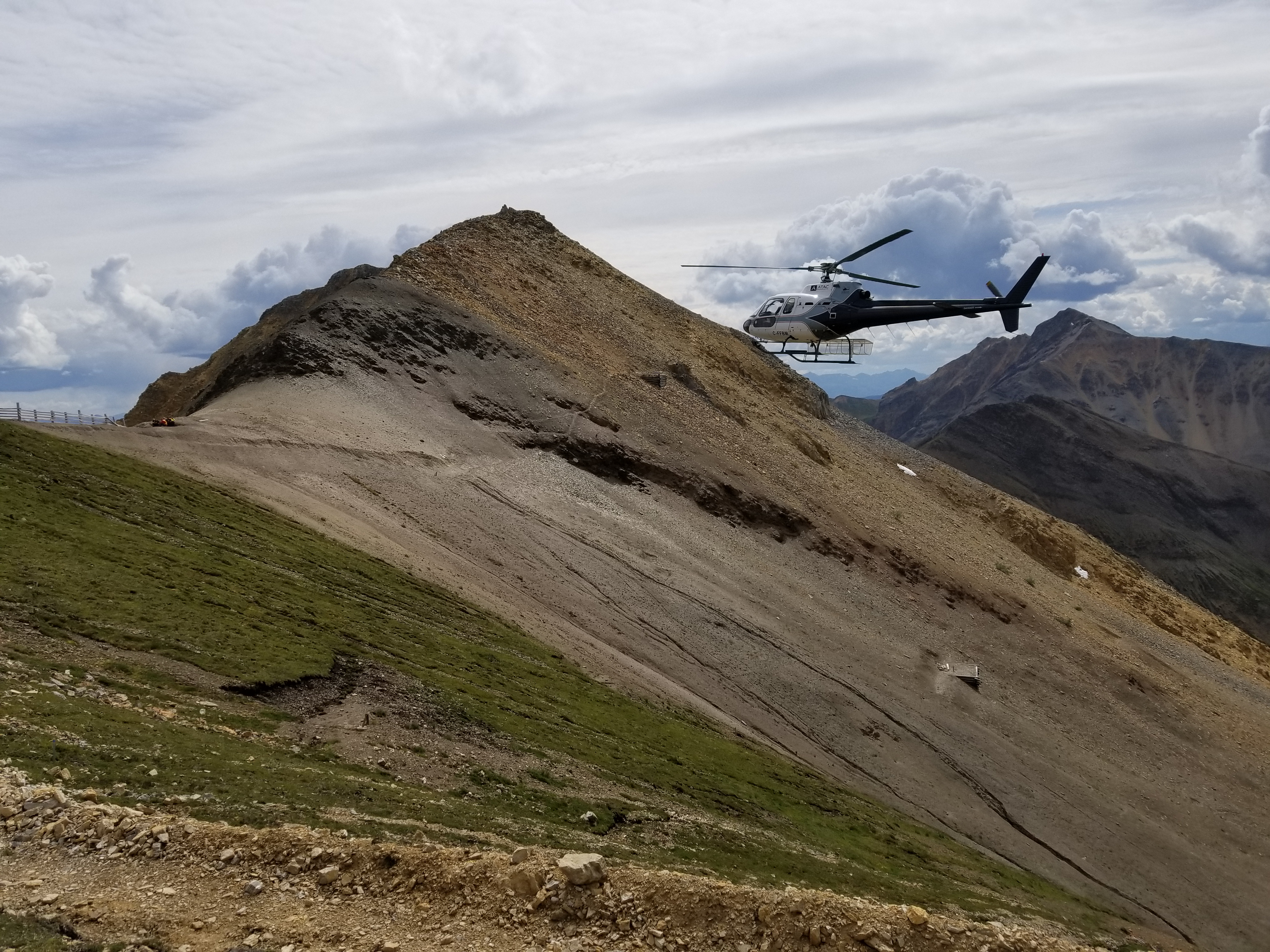 Helicopter Landing on the Mountain