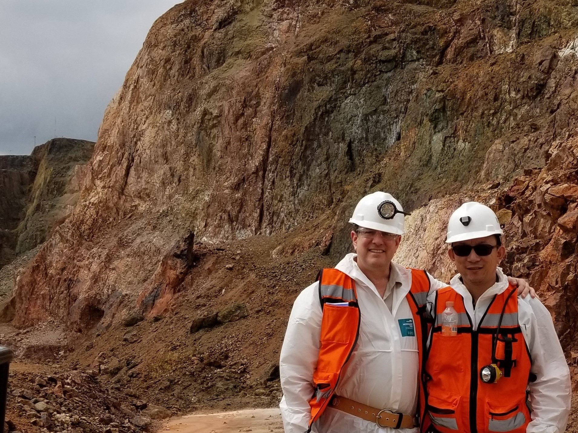 With CEO David Wolfin in Front of Historical Open Pit Mine