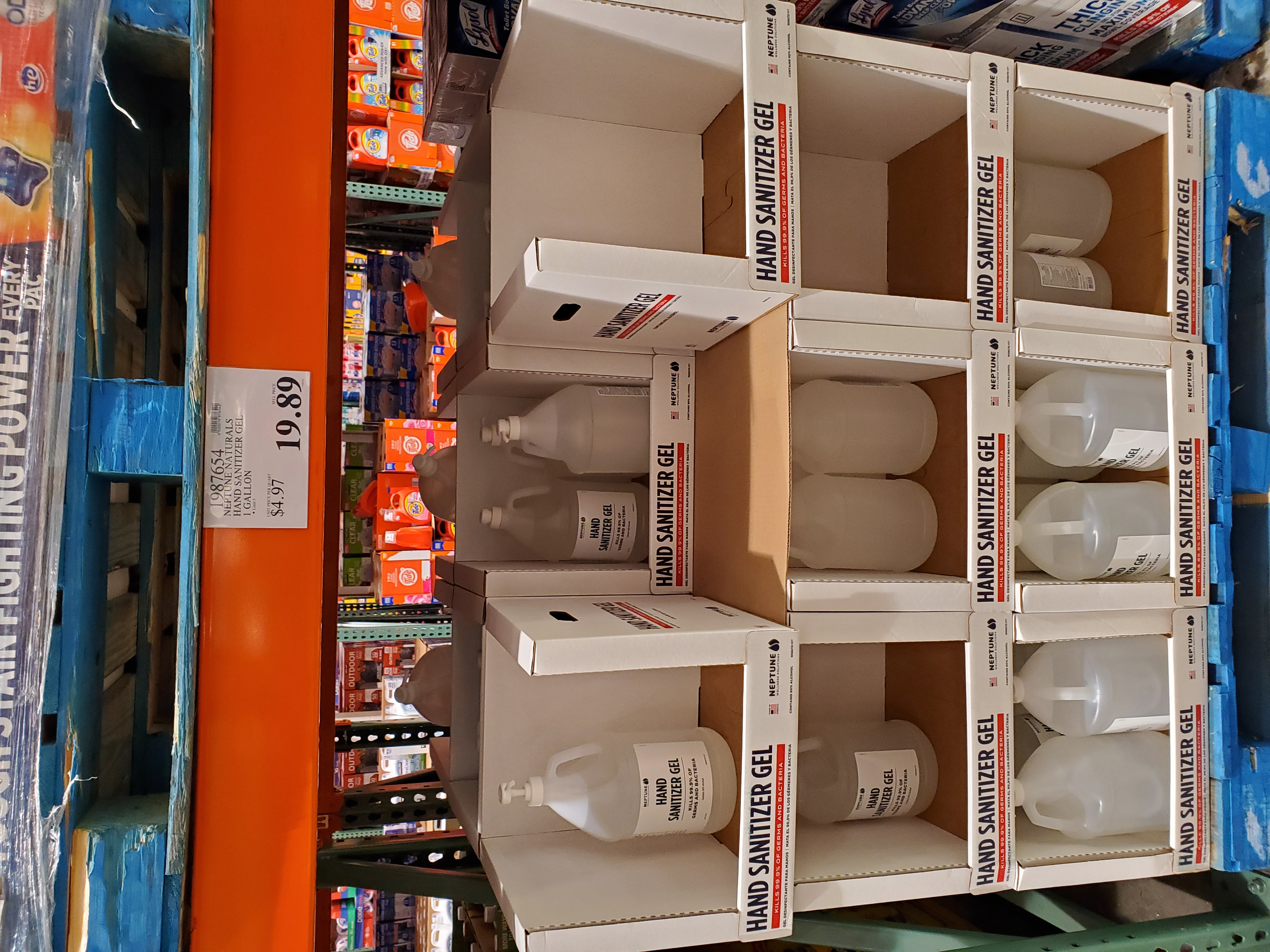 Hand Sanitizer Gel Selling in Costco
